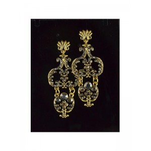 1p Boucles Oreilles Collection VINTAGE serti de Strass 66386