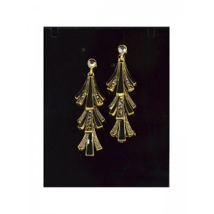 1p Boucles Oreilles Collection VINTAGE serti de Strass 66391