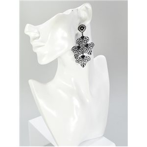 1p Boucles Oreilles Collection mode Filigrane 67035