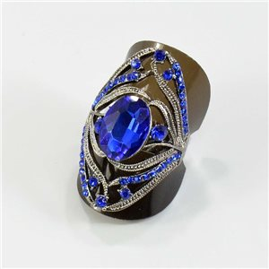 Rhinestone adjustable ring Silver Spring Collection Full Strass 67562