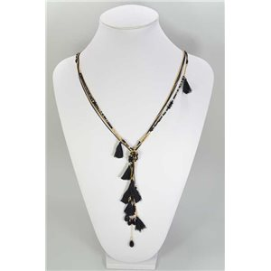 Long necklace Pompon on Pearl Fancy Collection Spring 67352