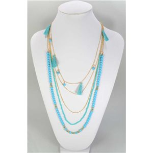 Long necklace Pompon Beads and Round Top Collection L90cm 67343