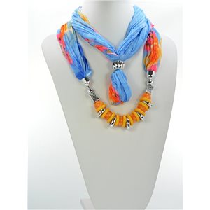 Scarf Necklace Jewelry Polyester Spring Summer Collection 2016 68446