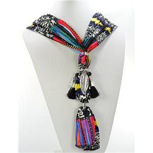 Scarf Necklace Jewelry Polyester Spring Summer Collection 2016 68424