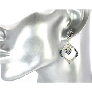 1p Boucles Oreilles Strass Mode Vintage New Collection 68548