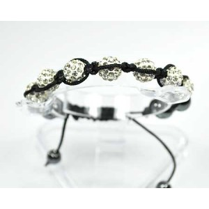 7 Adjustable Bracelet Rhinestone Balls Pierre 56565
