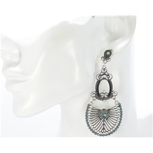 1p Earring CYBELE Full Rhinestone Silver Collection Vintage 2016 68737