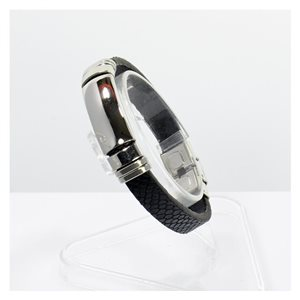 New Bracelet Homme skai reptile Collection STEEL 67095