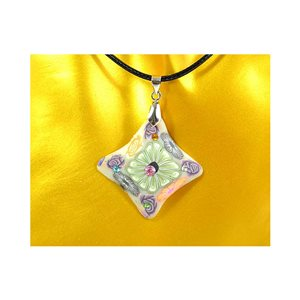 Necklace pendant with his pate Polymer New Spring Collection 65726