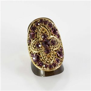 Bague Strass réglable Full Strass GOLD Vintage Collection 67622