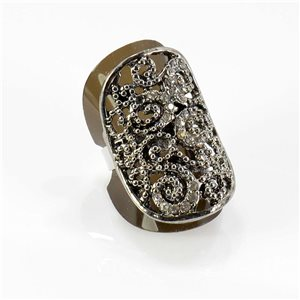 Bague Strass réglable Full Strass SILVER Vintage Collection 67747
