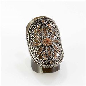 Bague Strass réglable Full Strass SILVER Vintage Collection 67825