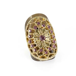Adjustable Rhinestone Ring Full Rhinestone GOLD Vintage Collection 67868