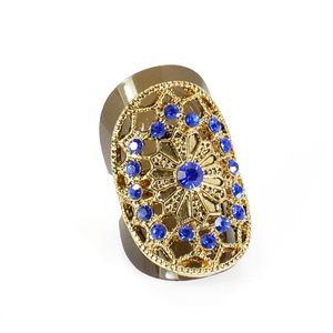 Adjustable Rhinestone Ring Full Rhinestone GOLD Vintage Collection 67871