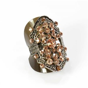 Bague Strass réglable Full Strass SILVER Vintage Collection 67897