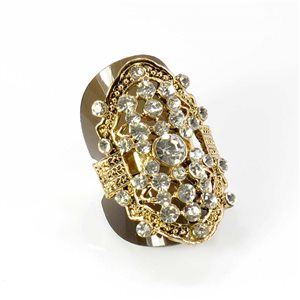 Bague Strass réglable Full Strass GOLD Vintage Collection 67900
