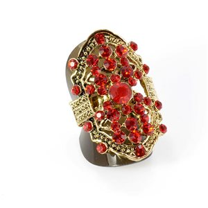 Bague Strass réglable Full Strass GOLD Vintage Collection 67901