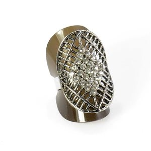 Bague Strass réglable Full Strass SILVER Vintage Collection 67927