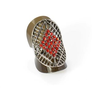 Bague Strass réglable Full Strass SILVER Vintage Collection 67928