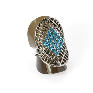 Bague Strass réglable Full Strass SILVER Vintage Collection 67932