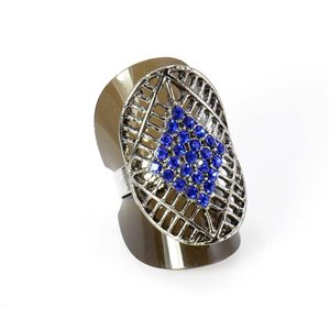 Bague Strass réglable Full Strass SILVER Vintage Collection 67934