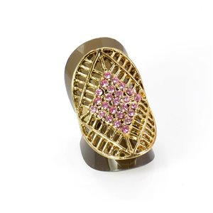 Adjustable Rhinestone Ring Full Rhinestone GOLD Vintage Collection 67938