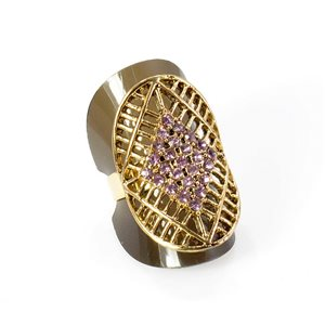 Bague Strass réglable Full Strass GOLD Vintage Collection 67940