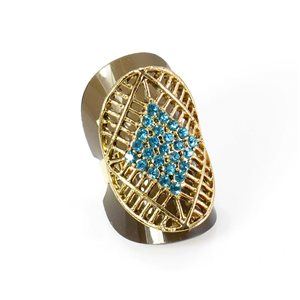 Adjustable Rhinestone Ring Full Rhinestone GOLD Vintage Collection 67,941