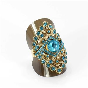 Adjustable Rhinestone Ring Full Rhinestone GOLD Vintage Collection 67959