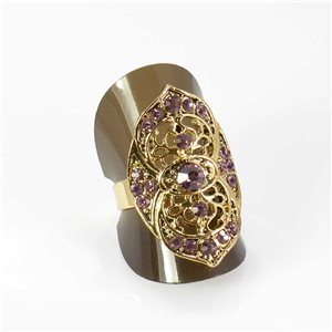 Bague Strass réglable Full Strass GOLD Vintage Collection 67976
