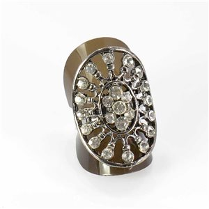 Bague Strass réglable Full Strass SILVER Vintage Collection 67981