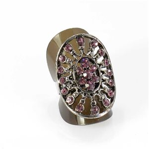 Bague Strass réglable Full Strass SILVER Vintage Collection 67985