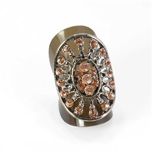 Bague Strass réglable Full Strass SILVER Vintage Collection 67987