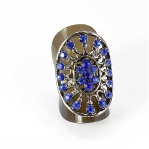 Bague Strass réglable Full Strass SILVER Vintage Collection 67988