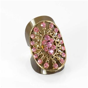 Bague Strass réglable Full Strass GOLD Vintage Collection 67992