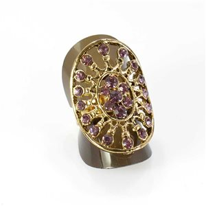Bague Strass réglable Full Strass GOLD Vintage Collection 67994