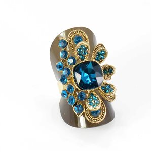Adjustable Rhinestone Ring Full Rhinestone GOLD Vintage Collection 68011