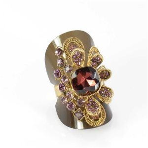 Bague Strass réglable Full Strass GOLD Vintage Collection 68012