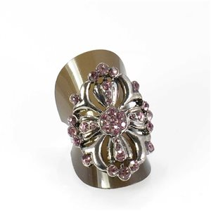 Bague Strass réglable Full Strass SILVER Vintage Collection 68021