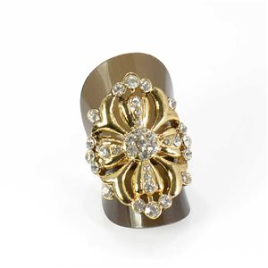Bague Strass réglable Full Strass GOLD Vintage Collection 68026