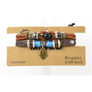 Multi Row Bracelet Leather sliding knot on New Collection 69481