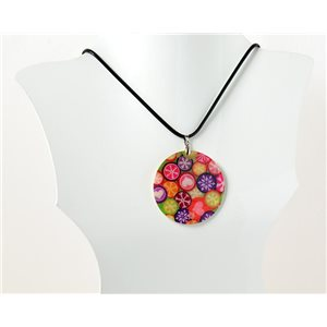 Collier Pendentif en Nacre naturelle Collection Fashion Design 69549