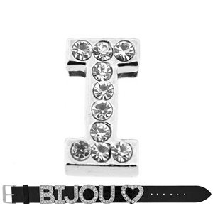 Initial Full Rhinestone Bracelet 20mm to 18mm name Letter I 69209