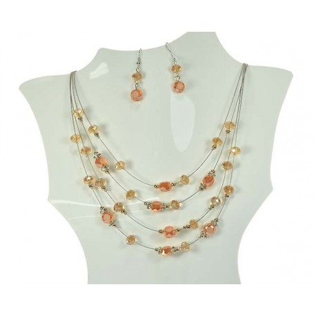Parure Collier Suspension 4 Rang de Perles 59947