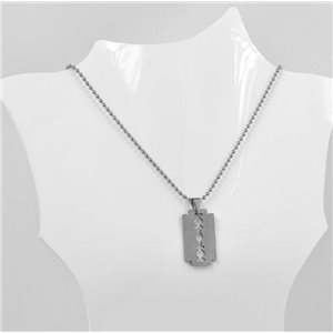 Man Stainless Steel Pendant Necklace on Chain BALL 69782