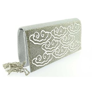 luxury satin pouch for evening wedding 20 * 10.5cm ornaments 70741