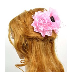 Hair clip crab 8cm Fashion Peas and Pearl Flower on Rose 11cm 70627
