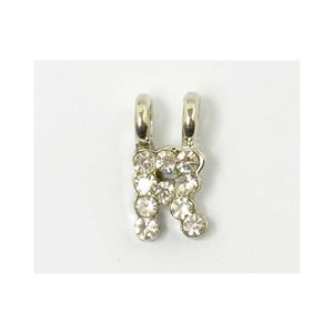 Initial Pendant full rhinestone 8mm name necklace letter r 69840
