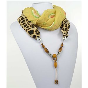 polyester scarf necklace jewelry new collection 2017 71016