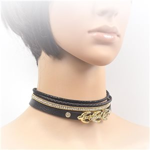 Collier ras de cou Chic et Strass New Collection Choker L32-40cm 71698